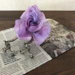 布染め花~個展の打ち合わせ