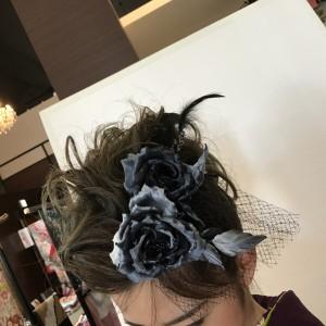 布花★手作りヘッドドレス着物に合わせたお写真