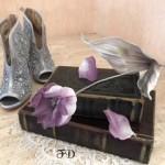 布染め花でアンティークなチューリップ〜大人のひな祭り〜