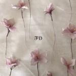 布染め花〜桜の花を作りました