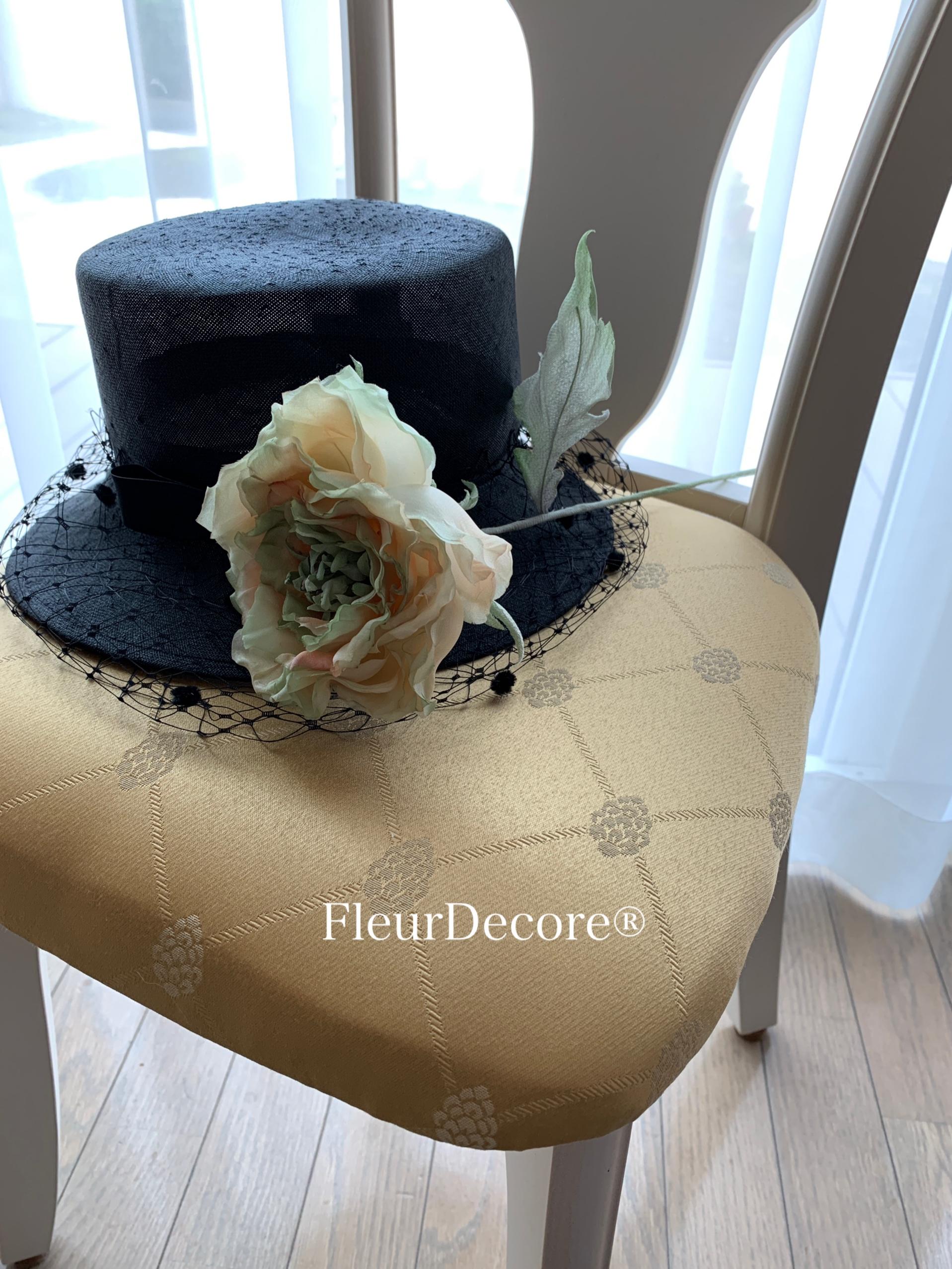 お気に入りの帽子とバラ☆そめ花アート