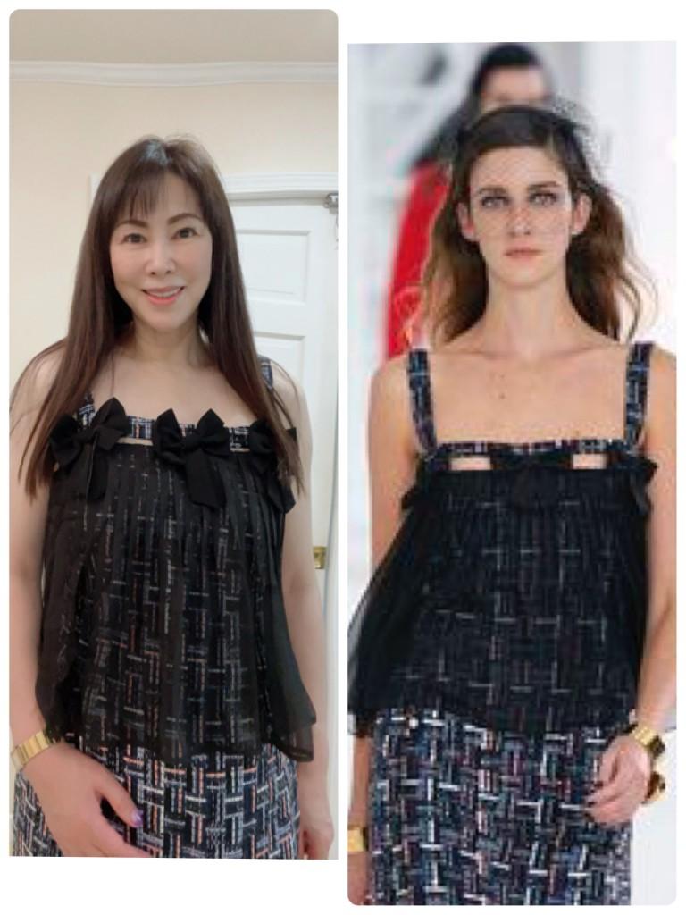 同じ服を着てみる(^∇^)
