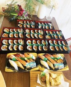 ろくのお寿司をテイクアウト