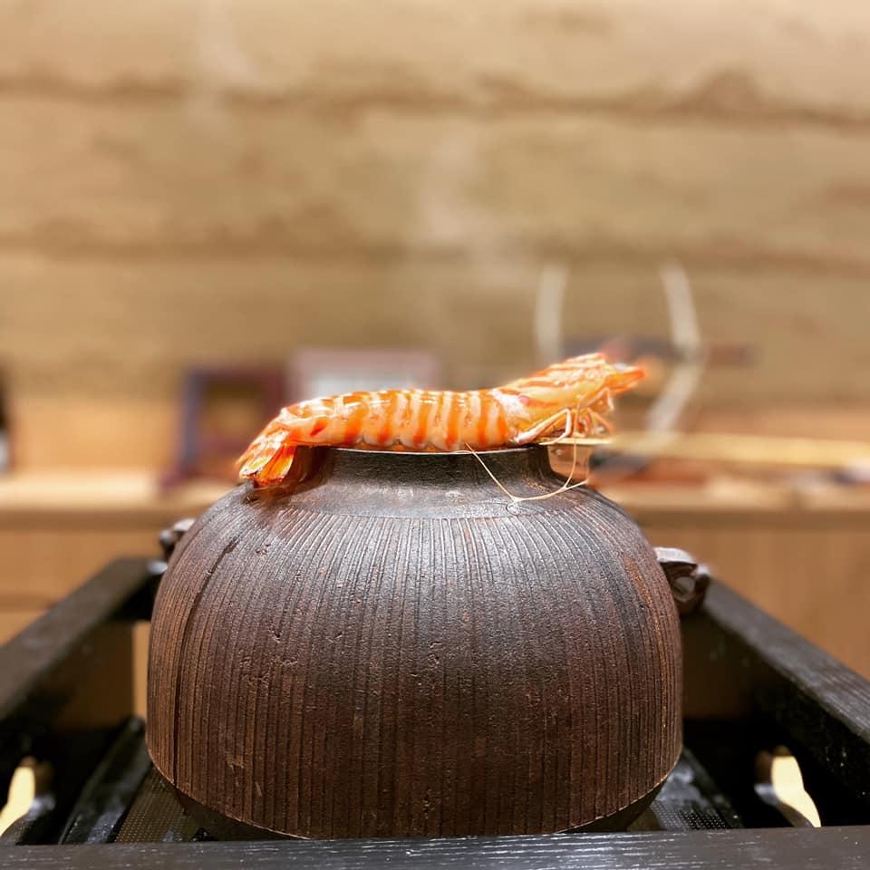 車海老専用のゆで壺がある!ミシュラン二つ星「鮨旬美 西川」