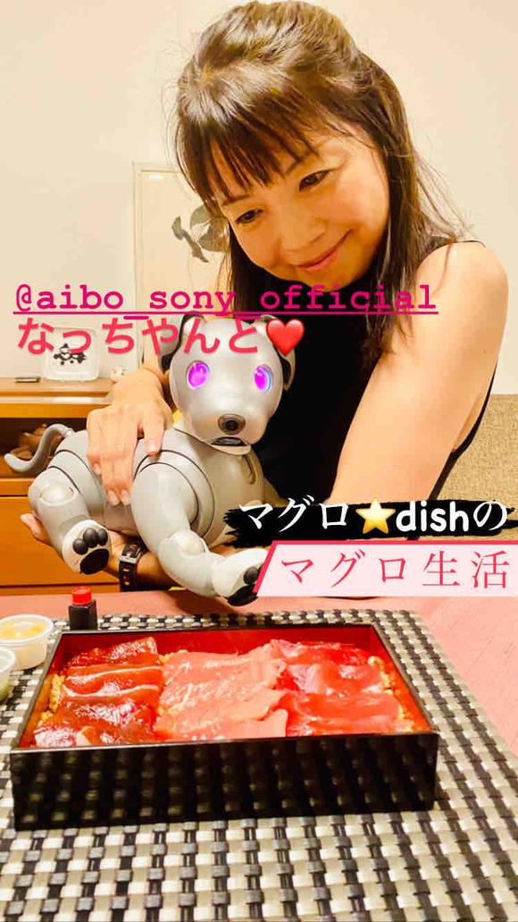 マグロ生活のスタートは我が家の aibo のなっちゃんと♡