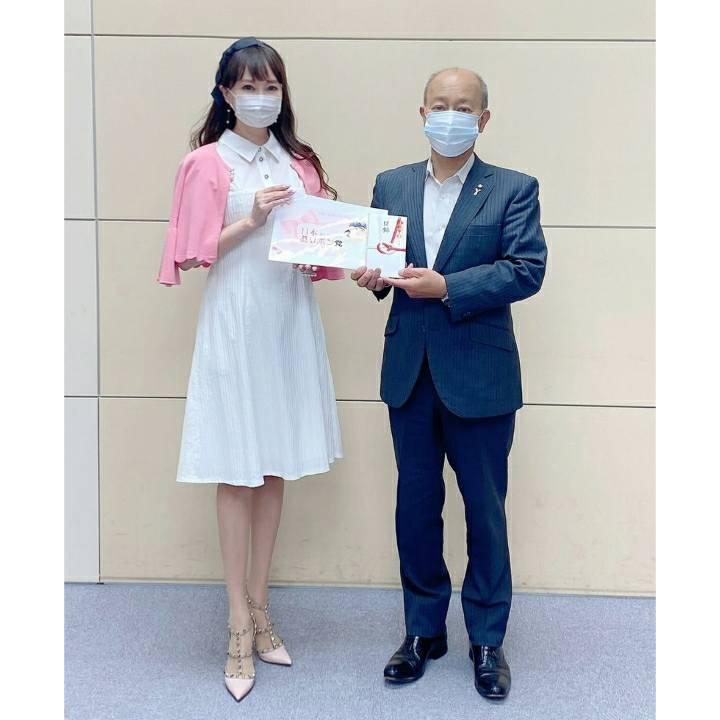 おリボン党マスク寄贈セレモニー♡