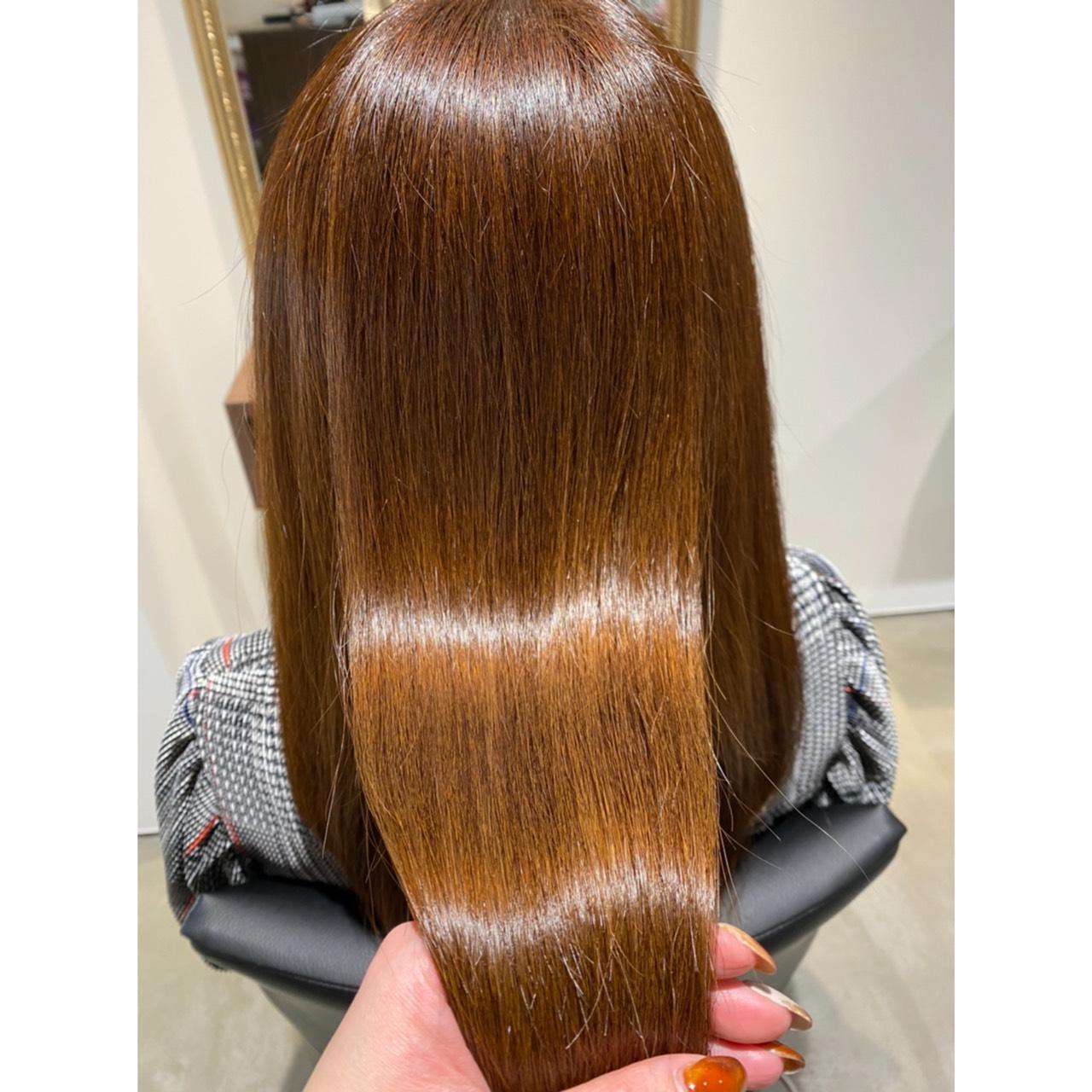 髪質改善トリートメントでツヤサラ〜♪