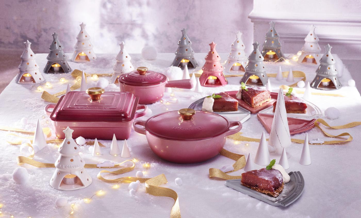 ル・クルーゼ・ジャポンから、ホリデーパーティーコレクションが登場! ストーンウエアで明るく華やかな食卓を